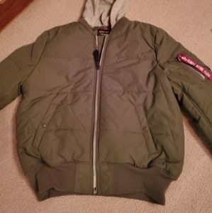 ALPHA INDUSTRIES insulated bomber jacket